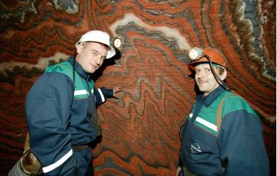 Zdjęcia z kopalni soli potasowej